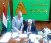 رئيس جامعة المنوفية يعتمد نتيجة كلية الآداب