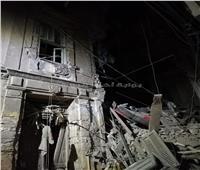 بالصور  انهيار جزئي بعقارين في الإسكندرية.. وإخلاء سكان 4 منازل