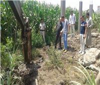 إزالة 8 حالات تعدي على الأرض الزراعية بالباجور