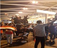 وزير الشباب والرياضة يصل مطار القاهرة لاستقبال أبطال اليد