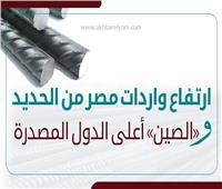 إنفوجراف| ارتفاع واردات مصر من الحديد.. و«الصين» أعلى الدول المصدرة