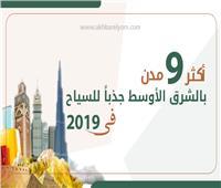 انفوجراف| تعرف على أبرز 9 مدن عربية جاذبة للسياح