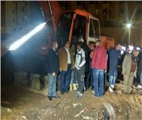 نائب محافظ القاهرة: إصلاح كسر خط المياه بشارع مسطرد