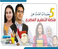 إنفوجراف | 5 معلومات هامة عن منصة التعليم المصري