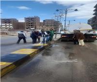 حملة مكبرة لرفع المخلفات والأتربة بمدينة شبين الكوم