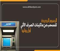إنفوجراف| الرسوم الجديدة للسحب من ماكينات الصرف الآلي أول يوليو