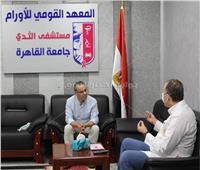 جابر القرموطي يزور مستشفى الثدي بالمعهد القومي للأورام | صور