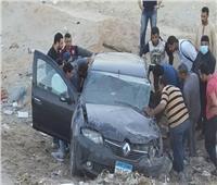 إصابة 6 أشخاص في حادث انقلاب سيارة ملاكي بالمنيا