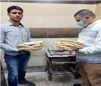 ضبط ٢٥ مخبزا لبيعهم الدقيق المدعم وإنتاج خبز ناقص الوزن