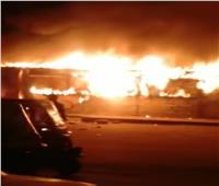 السيطرة على حريق «كشك» في أرض اللواء بالجيزة