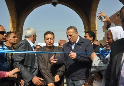 محافظ الجيزة يفتتح المسجد