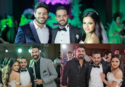 صورة مجمعة من حفل الزفاف