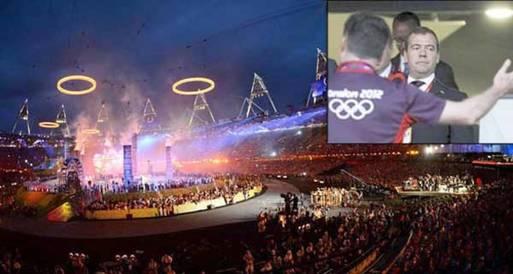 """""""ميدفيديف"""" يشيد بالحفل الافتتاحي لأولمبياد لندن"""