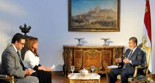 التليفزيون المصري يذيع حوارا للرئيس عقب نشرة التاسعة