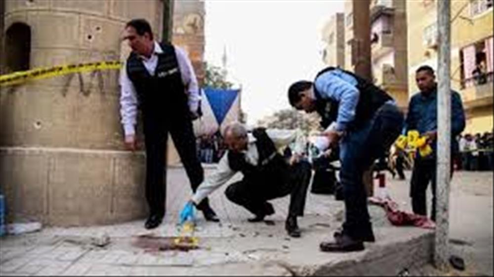 معاينة النيابة : إرهابى كنيسة مارمينا كان بحوزته 300 طلقة وقنبلة محلية الصنع
