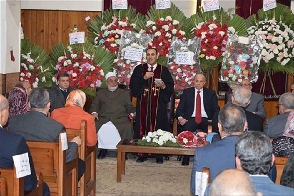 القاضى في زيارة الكنيسة الإنجيلية: نقدر مواقف الكنيسة الداعمة للدولة المصرية