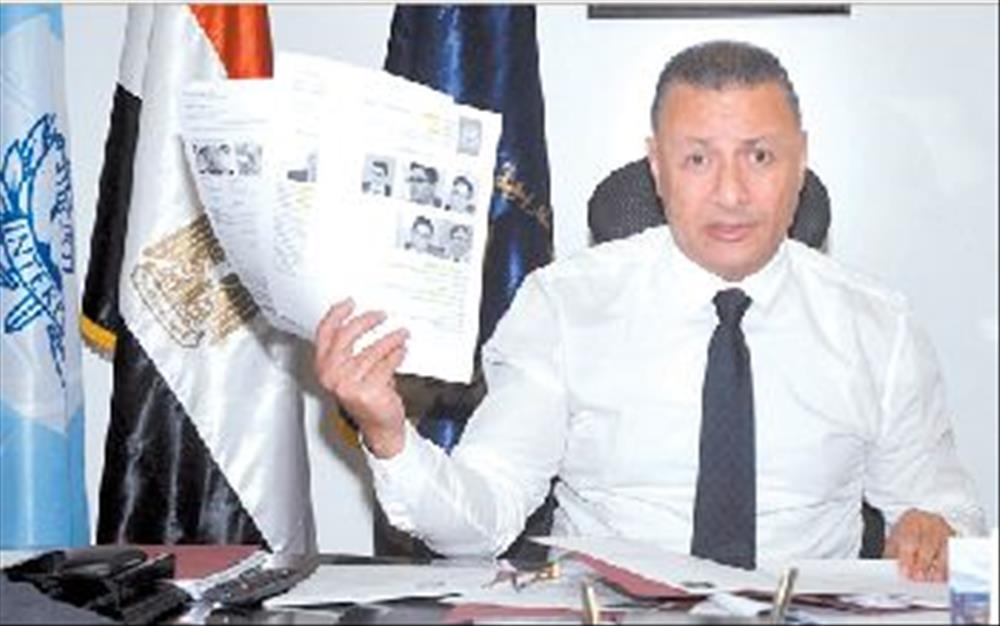 مدير الإنتربول المصرى خلال حواره للأخبار