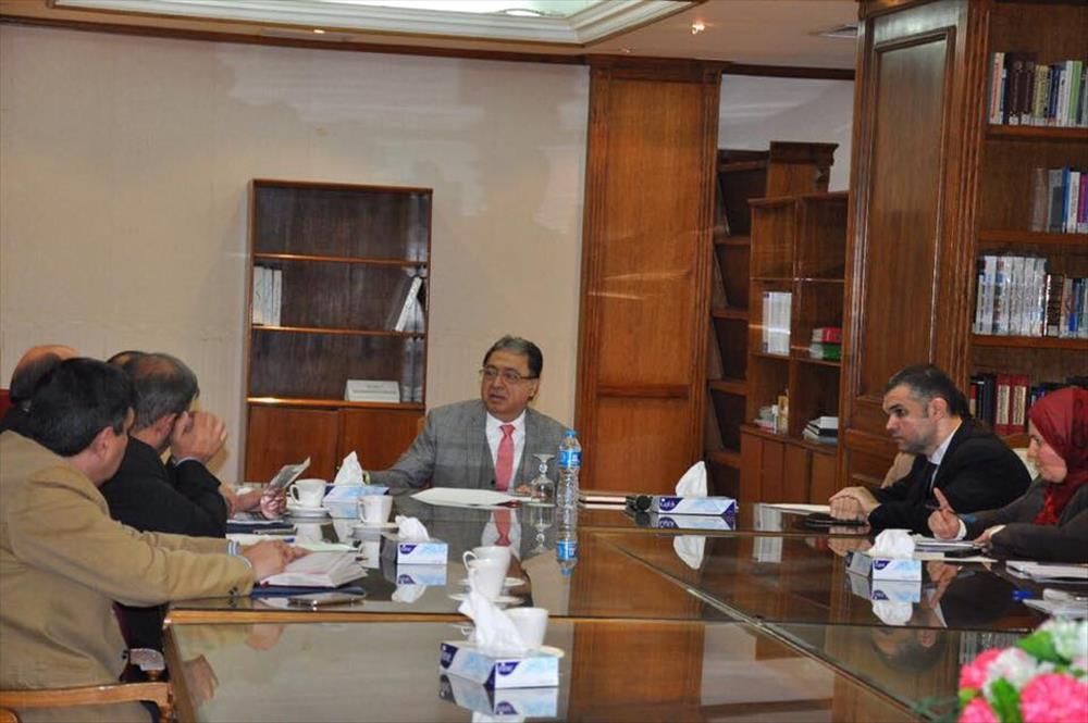 اجتماع وزير الصحة مع ممثلي وزارة الإنتاج الحربي