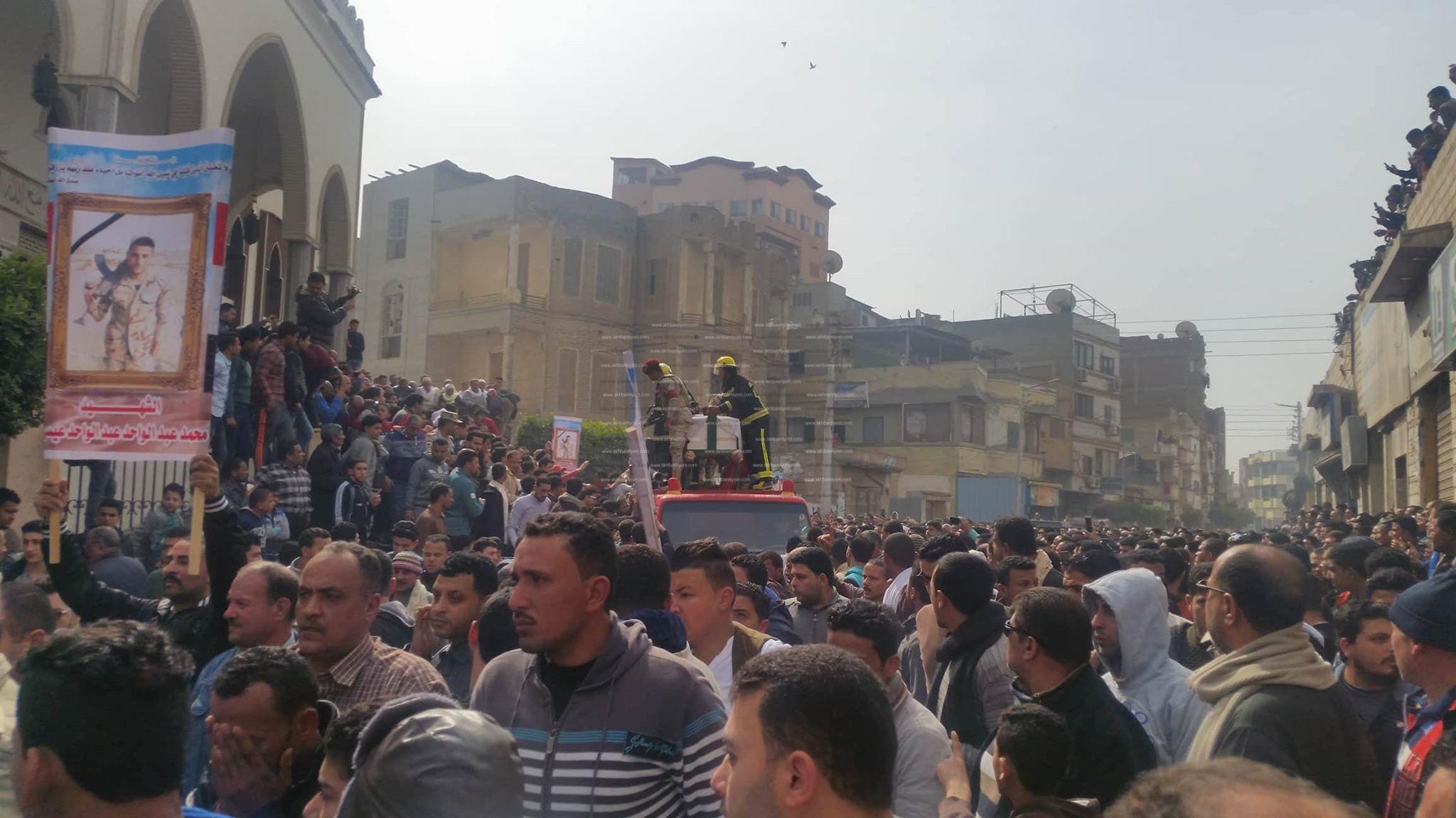 جنازة الشهيد محمد عيسي بدمياط