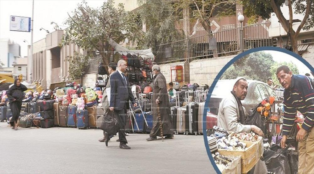 شوارع القاهرة تجمعات للباعة الجائلين