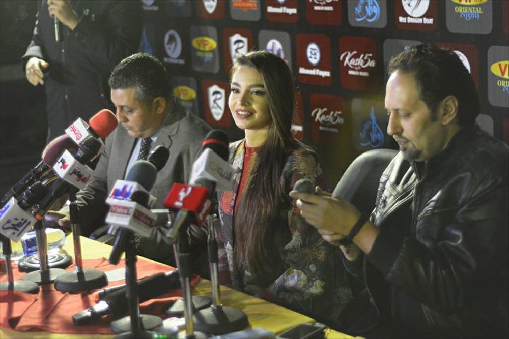 جوهرة خلال المؤتمر الصحفي