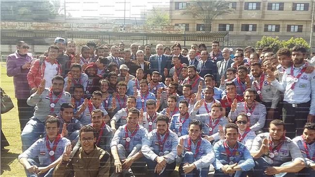 طلاب جامعة بنها