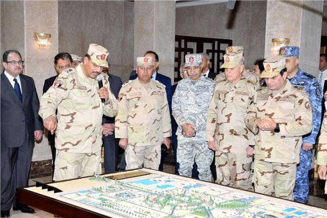 الرئيس السيسي خلال افتتاح قيادة قوات شرق القناة لمكافحة الإرهاب