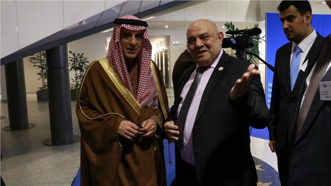 الأمير جمال النعيمي رئيس اتحاد الوطن العربي وعادل الجبير وزير خارجية السعودية