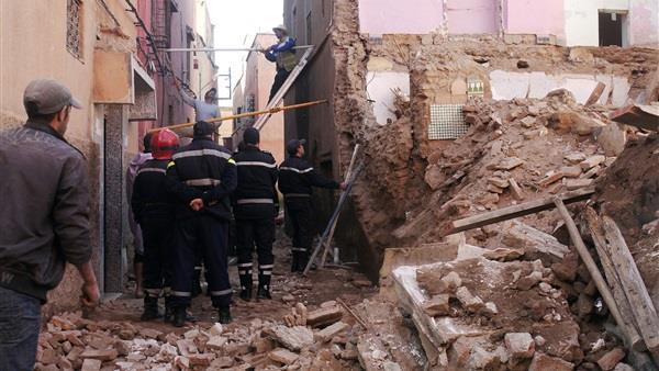 انهيار منزل بالإسكندرية ..صورة ارشيفية