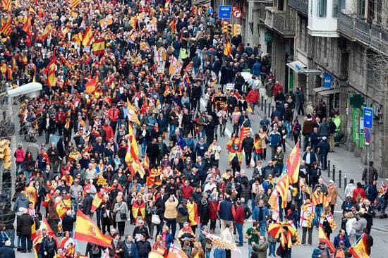 جانب من تظاهرات كتالونيا