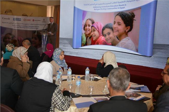 التعليم تحتفل بختام مشروع تلبية الاحتياجات للطلبة المصريين والسوريين