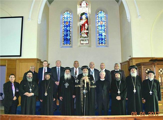 الانبا بولا يستلم كنيسة جديدة بانجلترا