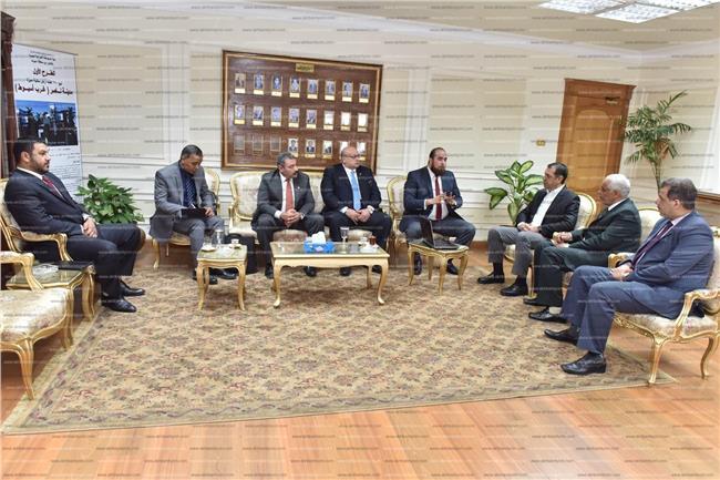 «الدسوقي» خلال استقباله وفد الهيئة العربية للتصنيع