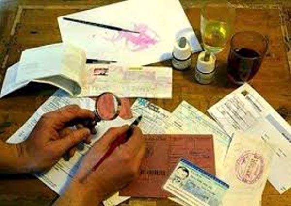 تزوير تأشيرات السفر