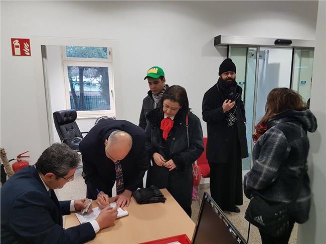 جانب من تصويت المصريين في النمسا