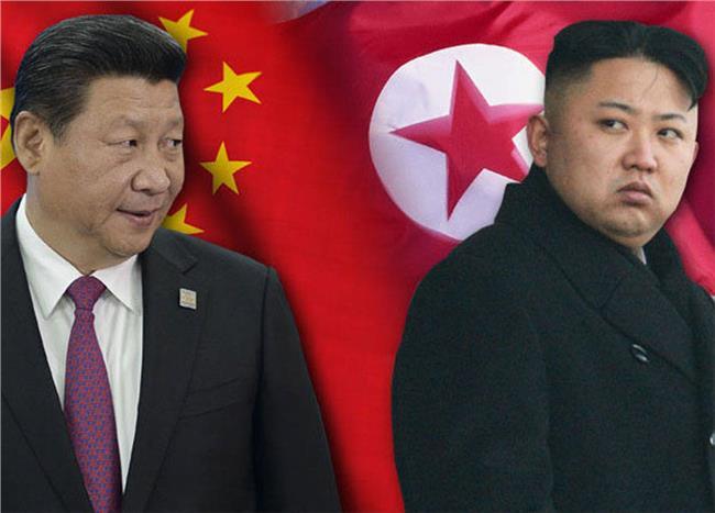 الزعيمان الكوري الشمالي والصيني