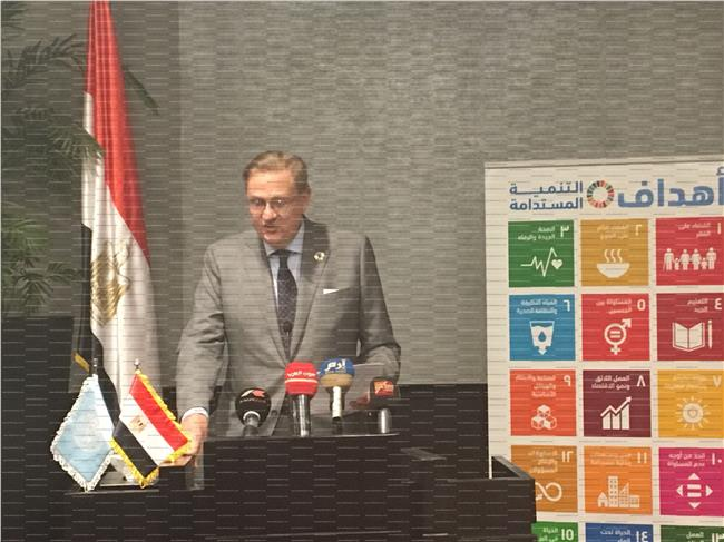 ريتشارد ديكتس المنسق المقيم للامم المتحدة فى مصر