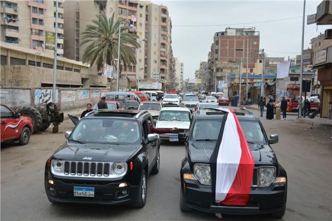مسيرة حاشدة لحزب حماة الوطن بدمنهور لدعم الرئيس السيسى فى الانتخابات الرئاسية