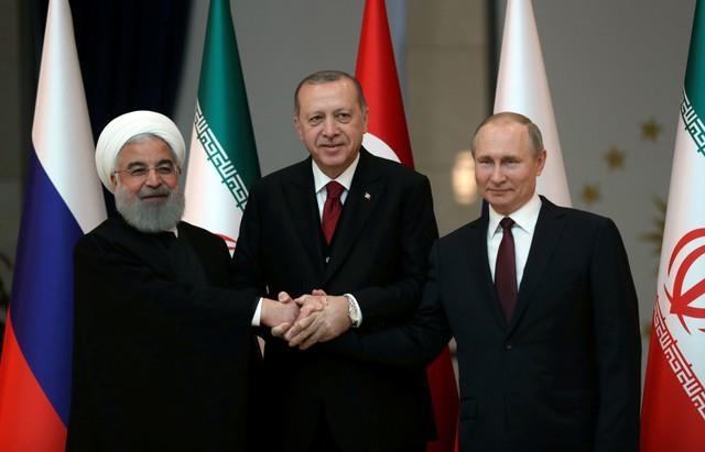 بوتين وروحاني وأردوجان