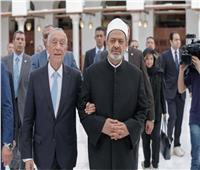 خلال جولة شيخ الأزهر والرئيس البرتغالي في الجامع الأزهر
