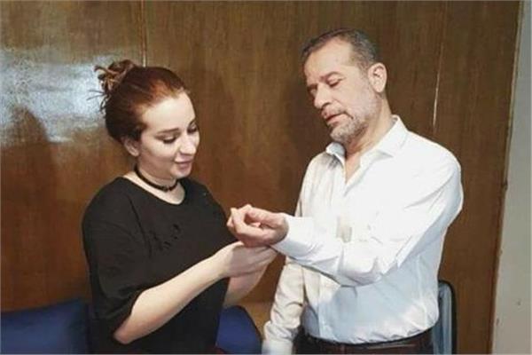 الفنان شريف منير و أبنته