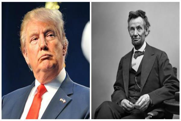 أبراهام لينكولن ودونالد ترامب