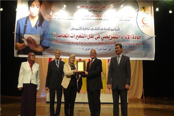 في افتتاح المؤتمر الدولي لـ «تمريض المنيا»