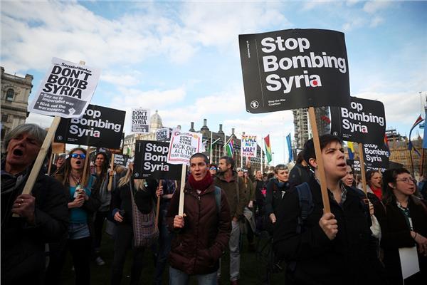 مظاهرات ببريطانيا