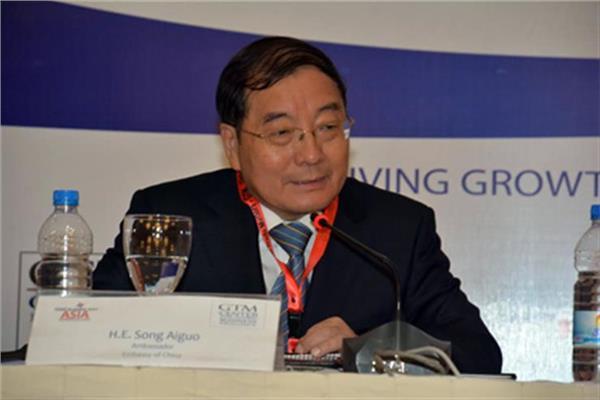 السفير سونج ايجو السفير الصيني في مصر
