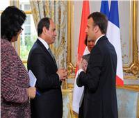 الرئيس عبدالفتاح السيسي مع نظيره الفرنسي - أرشيفية