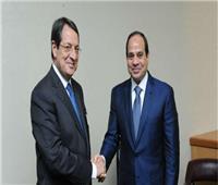 الرئيس القبرصي نيكوس اناستاسيادس مع الرئيس السيسي