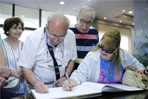 الوفد اليوناني القبرصي خلال زيارة الأكاديمية العربية بالإسكندرية