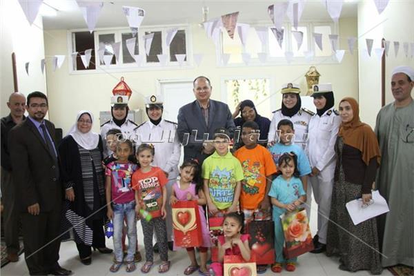 مدير أمن الجيزة يقوم بزيارة لدار أهالينا لرعاية الايتام