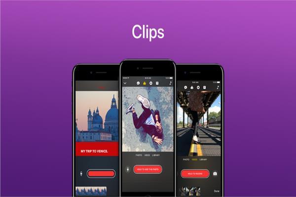 تطبيق Clips